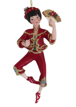 Set of 3 International Dancer Ornaments chinese front