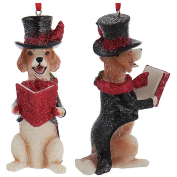 Dickens - Early American Male Beagle Ornament front right side