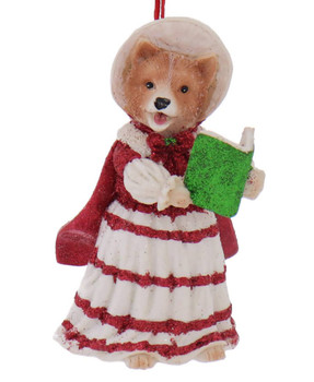 Dickens - Early American Female Pomeranian Ornament