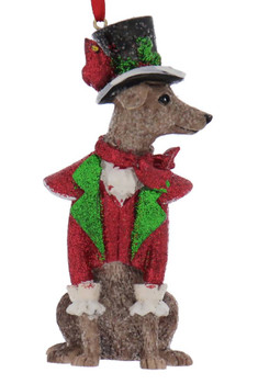 Dickens - Early American Dog Male Whippet Ornament