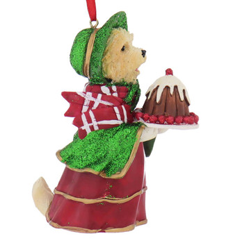Early American Female Cairn Terrier Ornament side