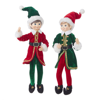 "Elf Raz Imports Elf Drummer Elf Poseable Shelf Sitter Red Black 16/"" New"