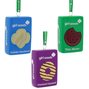 Set of 3 Girl Scout Cookie Ornaments,