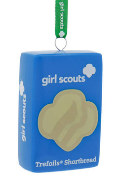 Set of 3 Girl Scout Cookie Ornaments trefoils front