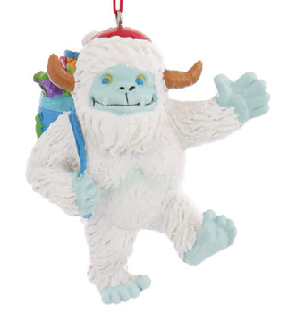 Whimsical Abominable Snowman Yeti Ornament