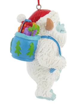 Whimsical Abominable Snowman Yeti Ornament side