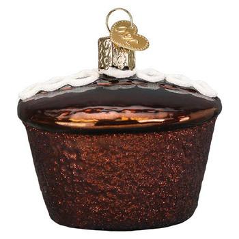 Hostess Cupcake Glass Ornament Ornament