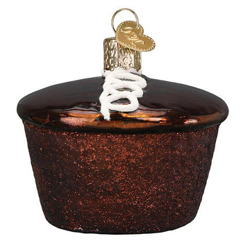 Hostess Cupcake Glass Ornament Ornament side