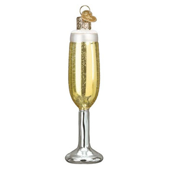 Champagne Flute Glass Ornament Ornament