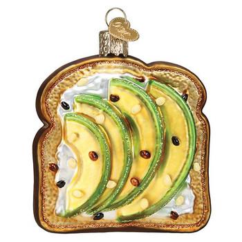 Avocado Toast Glass Ornament Ornament