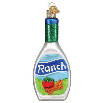 Ranch Dressing Glass Ornament Ornament