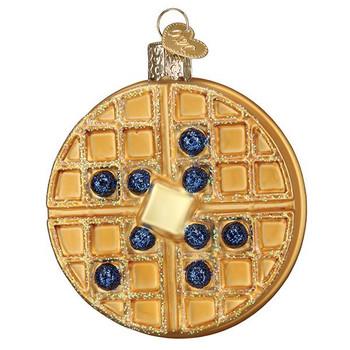 Waffle Glass Ornament Ornament
