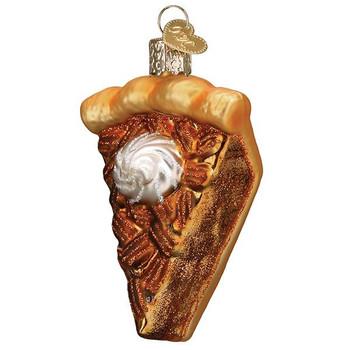 Piece Of Pecan Pie Glass Ornament Ornament