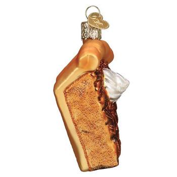 Piece Of Pecan Pie Glass Ornament Ornament side
