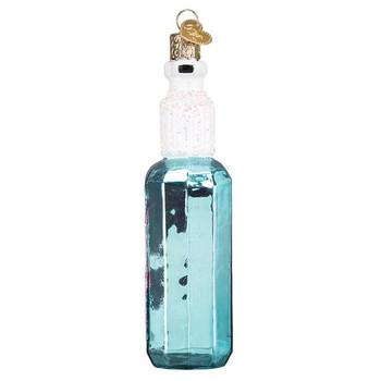 Hand Sanitizer Glass Ornament Ornament side