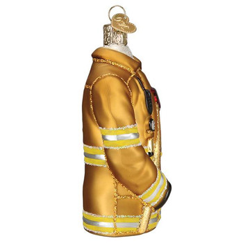 Firefighter's Coat Glass Ornament Ornament side