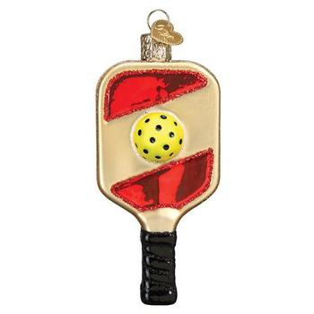 Pickleball Paddle Glass Ornament Ornament