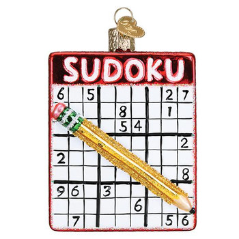 Sudoku Glass Ornament Ornament