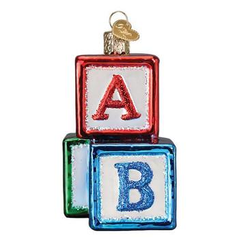 ABC Blocks Glass Ornament Ornament side