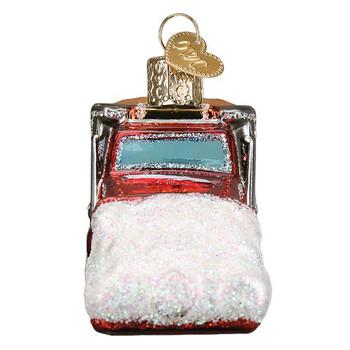 Snow Plow Glass Ornament Ornament side