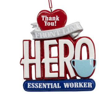 Front Line Essential Worker Hero Ornament