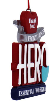 Front Line Essential Worker Hero Ornament side