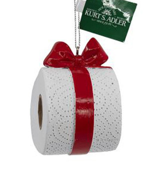 """Hanging Roll of Toilet Paper Ornament, 2 7/8"""", KAA2027"""