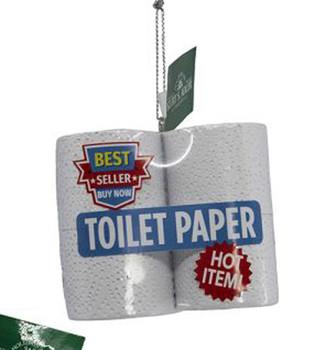 "4 Pack Toilet Paper Ornament, 2 3/4 x 2 1/8"", KAA2027"