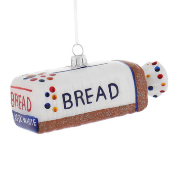 Loaf of White Bread Glass Ornament