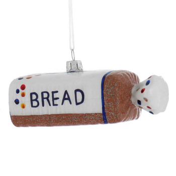 Loaf of White Bread Glass Ornament right side