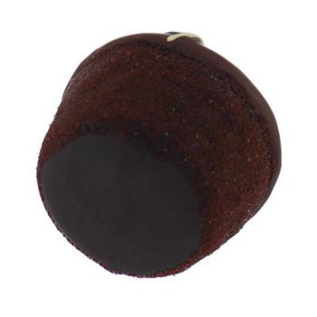 Chocolate Cupcake Glass Ornament bottom