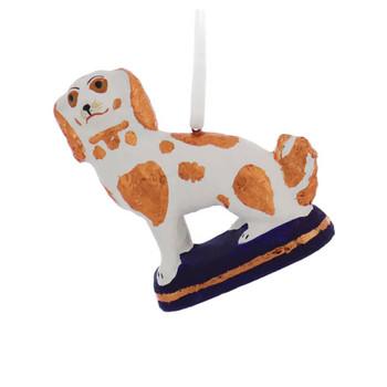 Paper Mache Art Vintage Spaniel Dog Figurine Ornament