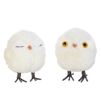 "Cute Plush Fabric Baby Owl with Legs Ornament, 4"", RA4003421"