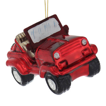 Off Road Vehicle Glass Ornament front