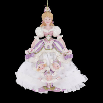 Nutcracker and Four Reals Mother Ginger Ornament front