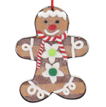 Cookie Cutter with Two-Tone Cookie Ornament gingerbread front