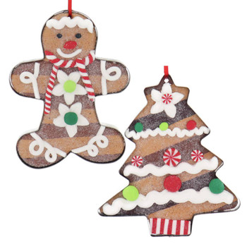 Set of 2 - Cookie Cutter with Cookie Ornaments