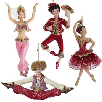 Set of 4 International Dancer Ornaments