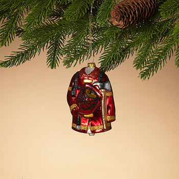 """Firefighter Suit and Gear Glass Ornament, 4 1/4"""", ST2547150"""