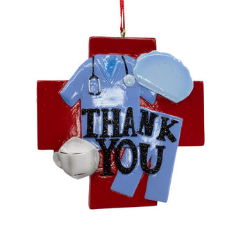 """Medical Essential Worker Themed Thank You Ornament, """", KAA2029"""