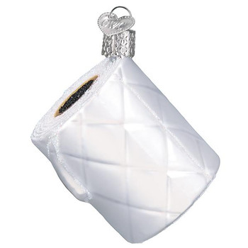 Toilet Paper Glass Ornament Ornament side