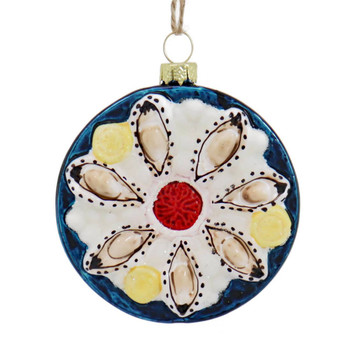 Oyster Plate Glass Ornament