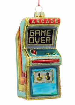 Vintage Video Arcade Game Glass Ornament