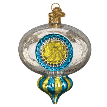 Shiny Mercury Reflection Glass Ornament