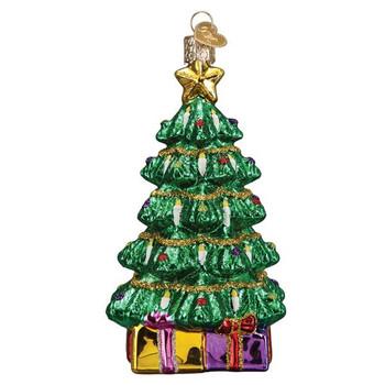 Radiant Tree Glass Ornament back