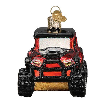 Side By Side ATV Glass Ornament front