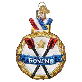 Rowing Glass Ornament