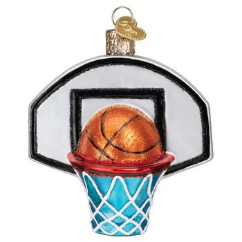 Basketball Hoop Glass Ornament