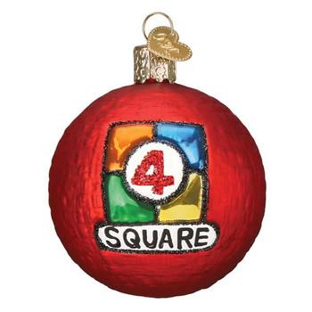 4 Square Ball Glass Ornament