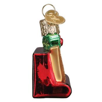 Joyful Scrabble Glass Ornament  side